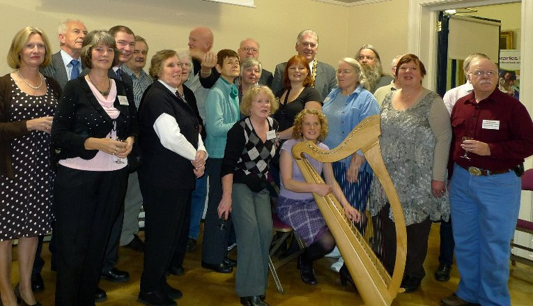 Delegates from the Route Back Home 2010 at the evening reception hosted by the Mayor of Ballymoney, Councillor Bill Kennedy.
